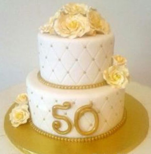 золотая свадьба торты кремовый
