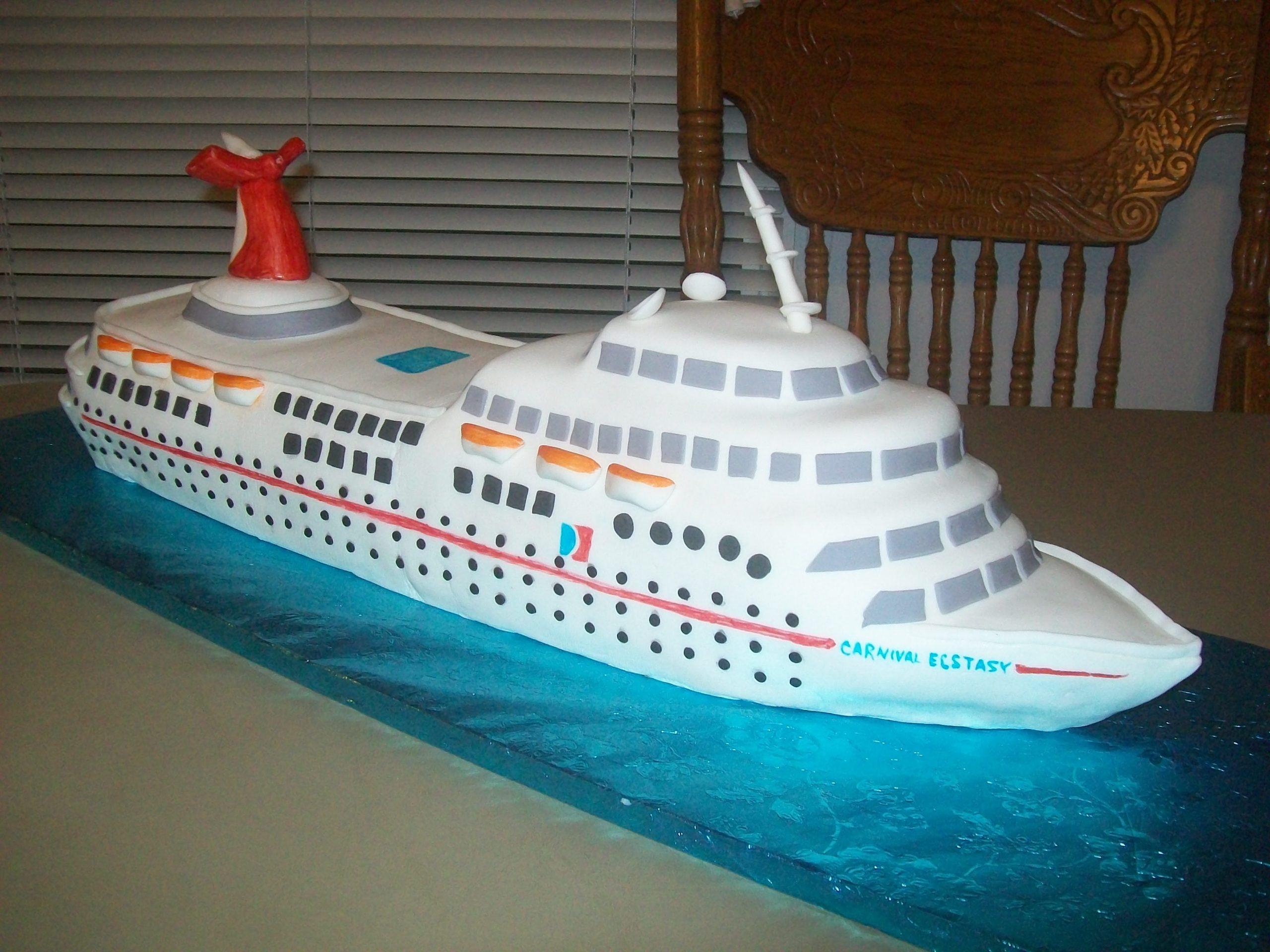 детские торты в виде корабля