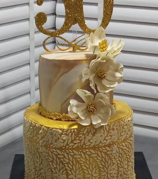 торты на золотую свадьбу картинки