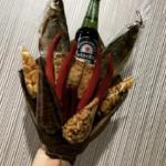 Букет из рыбы и пива мужчине фото