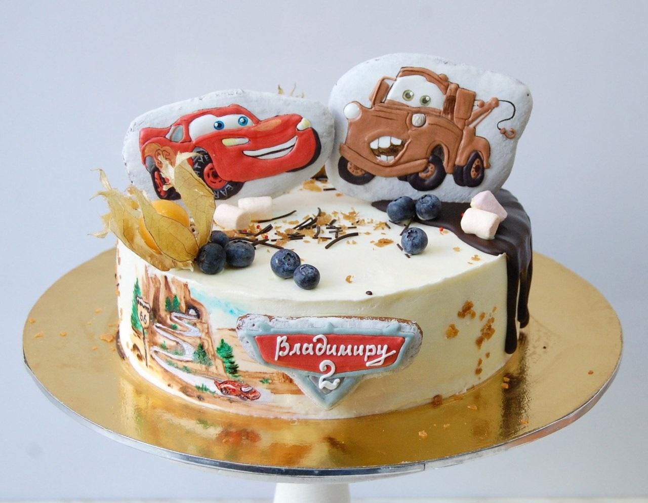 торт с маквином фото без мастики был первый