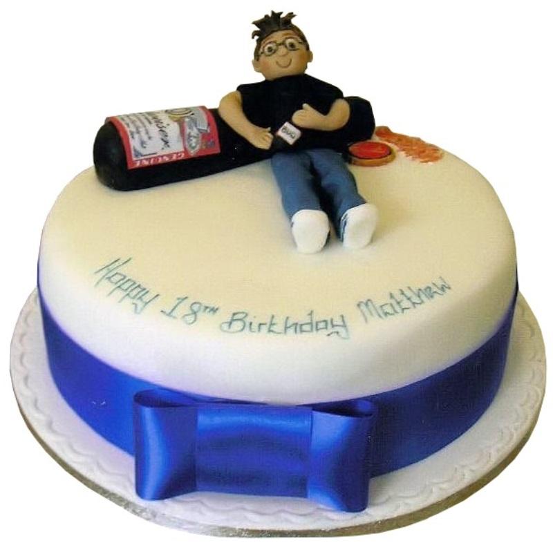 торт на 18 лет сыну