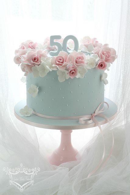 Торты на золотую свадьбу 50