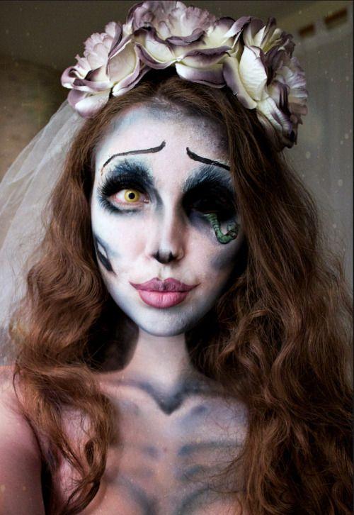макияж на хэллоуин мертвая невеста фото