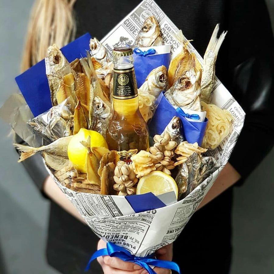 букеты мужчине на день рождения фото прикольные из пива для