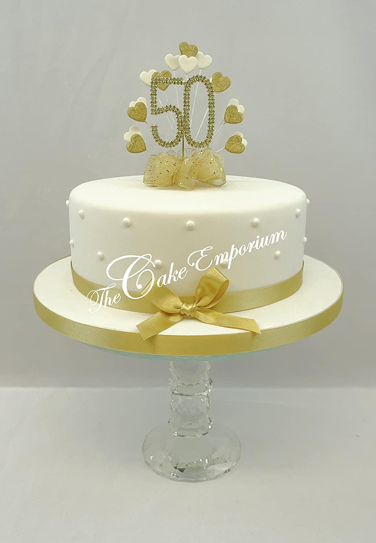 торты на золотую свадьбу родителям фото
