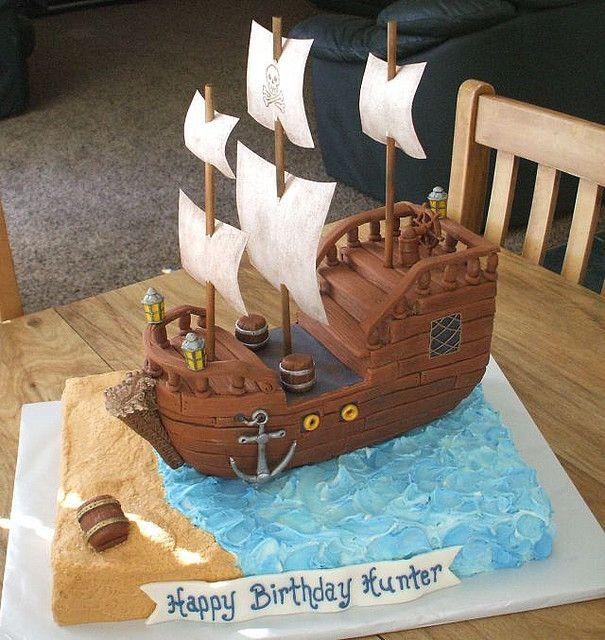 торты пиратские корабли
