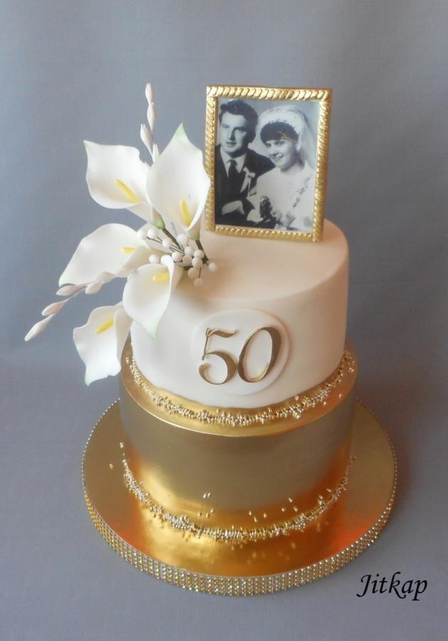 торт на юбилей золотая свадьба
