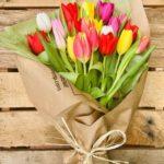 Букеты тюльпанов фото