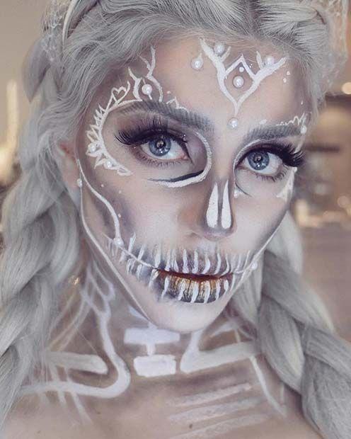 грим на хэллоуин мертвая невеста фото