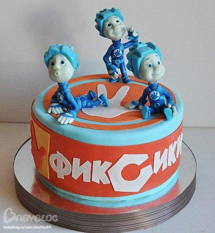 торты на день рождения фиксики