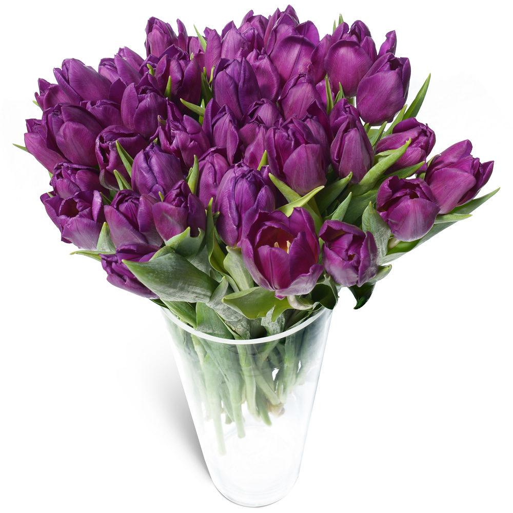 большие букеты тюльпанов